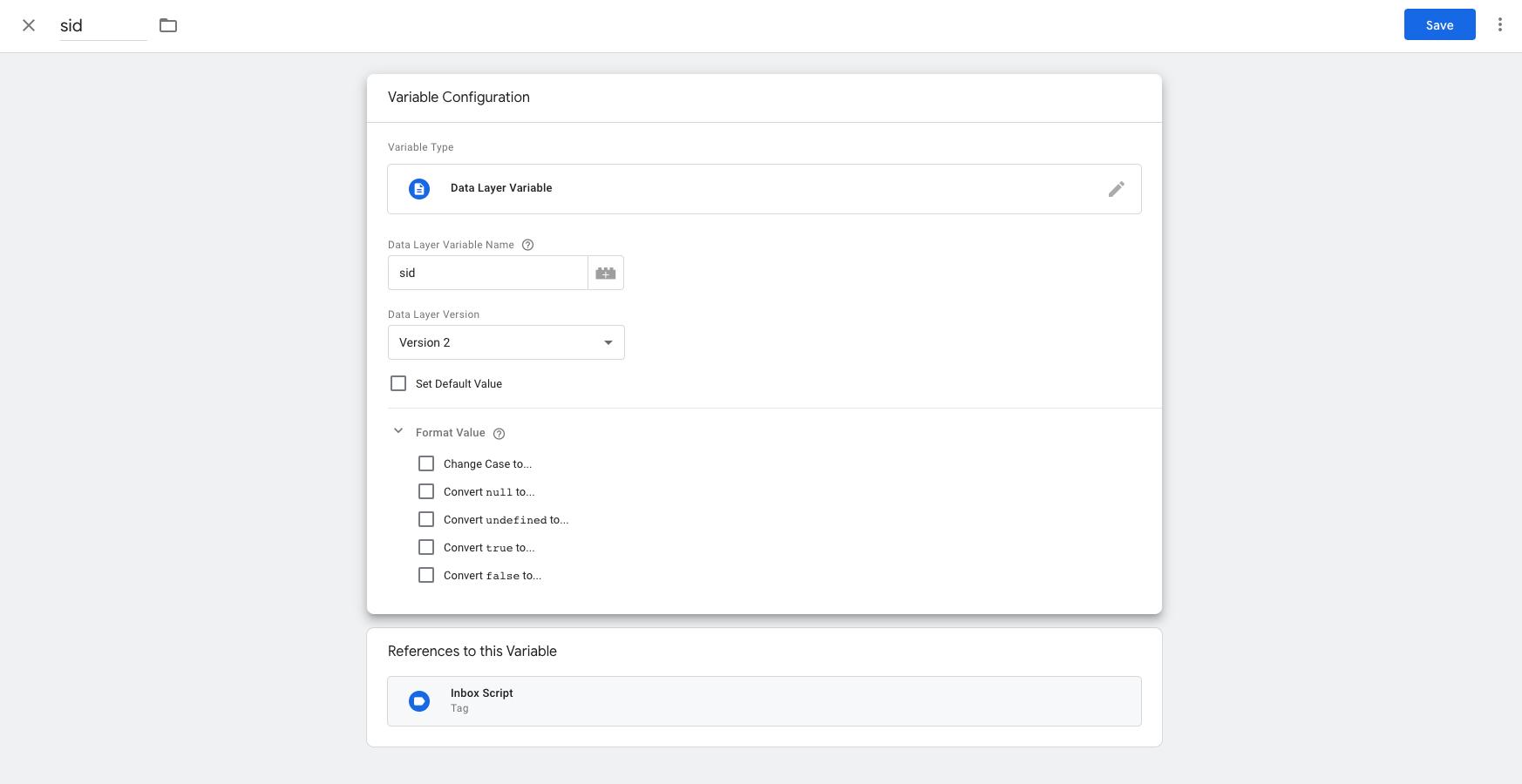Google Tag Manager Custom Variable